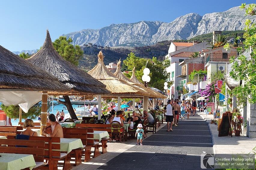 Beautiful promenade of Podgora