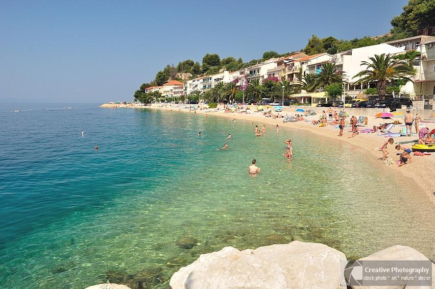 Beach of Podgora-Caklje in Croatia