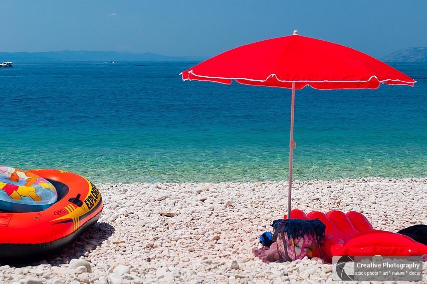 Beach of Tucepi in Croatia
