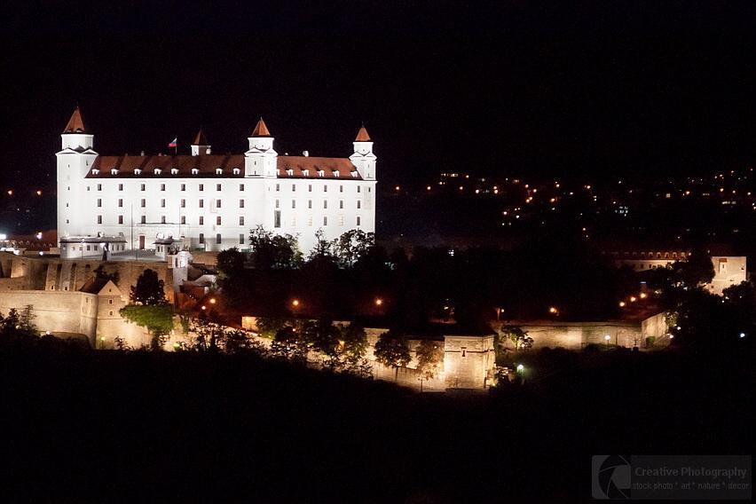 Night scene of Bratislava castle