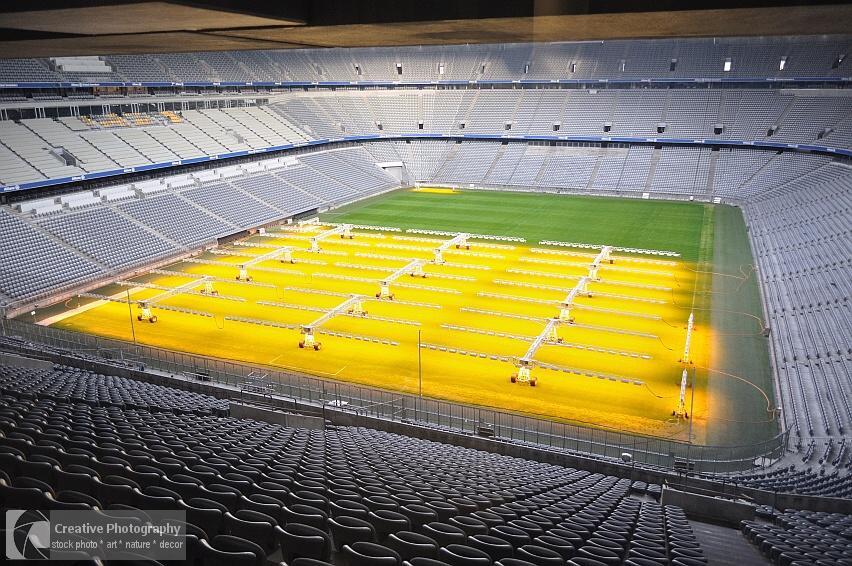 Interior of the Allianz Arena in München, Germany