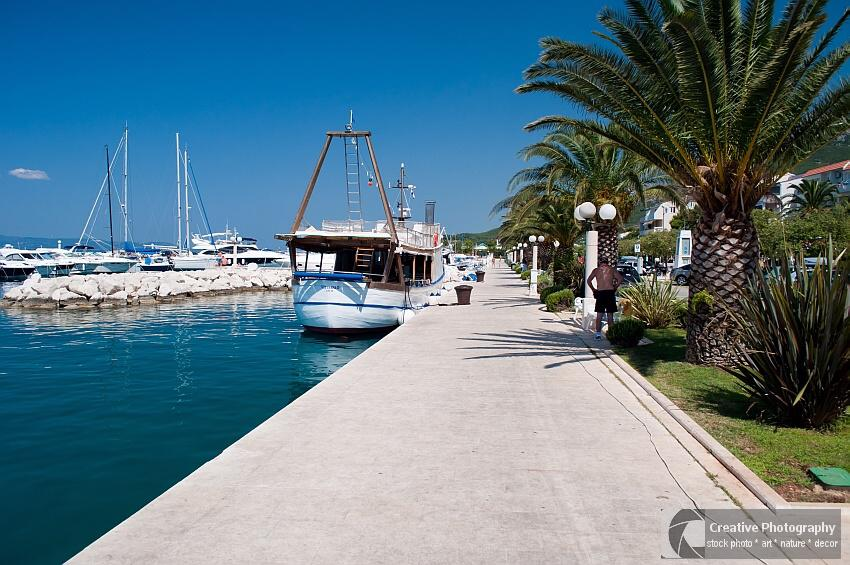 Port of Tucepi in Croatia