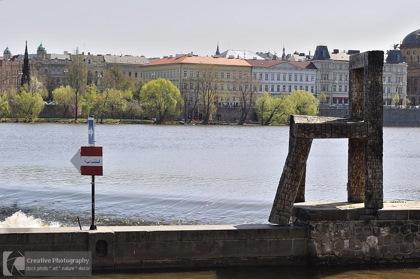 The big chair in Kampa Island in Prague