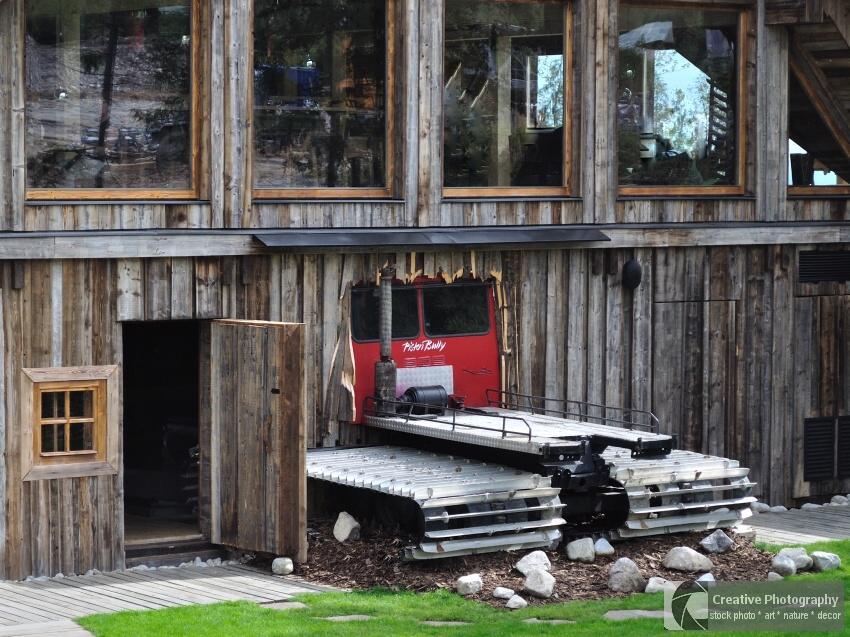 Truck in house in High Tatras in Slovakia