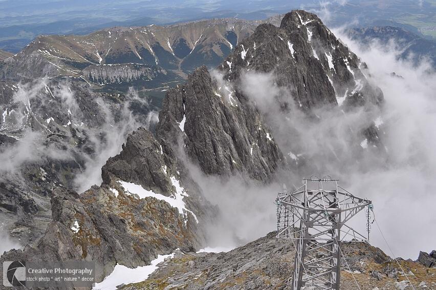 View from the Lomnicky Peak, High Tatras, Slovakia